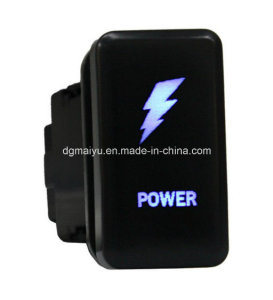 Waterproof Laser Ecthed Carling Style DC 12V 24V Power Push Switch for Toyota pictures & photos