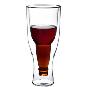500ml Glass Double Wall Promotional Beer Glass Cup pictures & photos