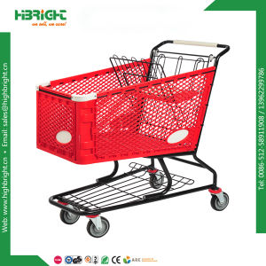 High Quality 180lsupermarket Grocery Plastic Shopping Cart pictures & photos