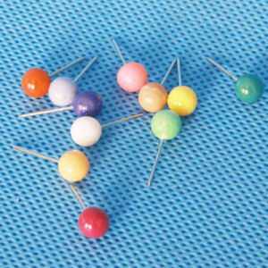 Coloured Plastic Pearl Head Pin Stationery (QX-PP001) 6*17mm pictures & photos