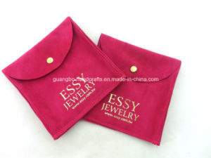 Gray Button Velvet Printing Customize Jewelry Bag pictures & photos