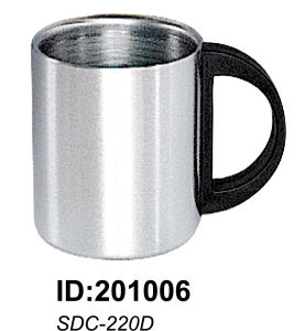 18/8 High Quality Stainless Steel Double Wall Mug Sdc-220d pictures & photos