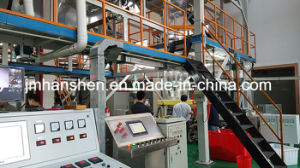 Four Layers Co-Extrusion Self-Adhesive Film Blowing Machine (SGM-4×1800) pictures & photos