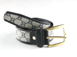 PU Leather and Webbing Needlepoint Belts pictures & photos