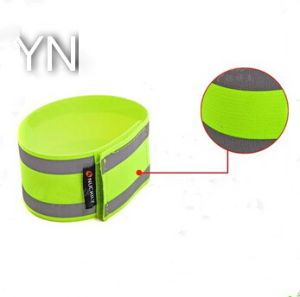 Fluorescent Elastic Magic Tape Reflective Armband for Sale pictures & photos