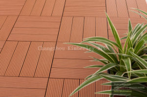WPC Wood Grain DIY Floor/Laminated Decking Floor pictures & photos