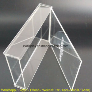 Engraved Logo Clear Acrylic Box with Hinged Lid pictures & photos