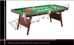 Wj-P-010 6 Ft Snooker Table Pool Table Billiard Table