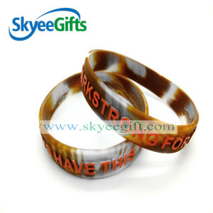 Camouflage Color Silicone Wristband for Promotion or Show pictures & photos