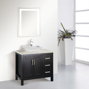 Solid Oak Wood Floor Standing Bathroom Vanity