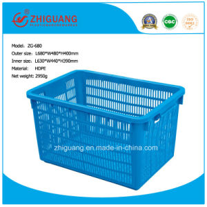 Square Plastic Turnover Storage Basket pictures & photos