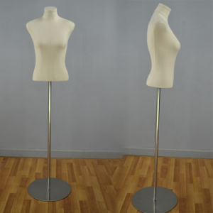 Yazi Fabric Wrapped Female Torso Mannequin for Window Display pictures & photos