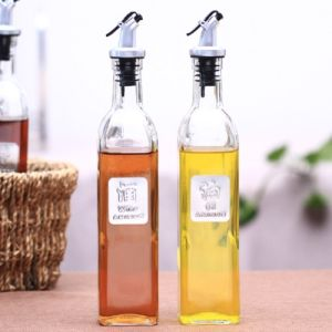 High-End Kitchenware Glass Bottle for Oil and Spices pictures & photos