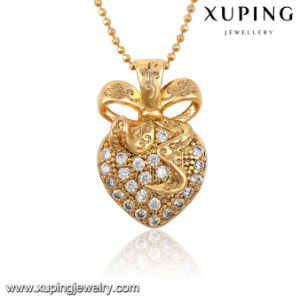 32547-Best Selling Crystal L Heart-Shaped Diamond CZ 18k Gold Plated Jewelry Pendant Necklace pictures & photos