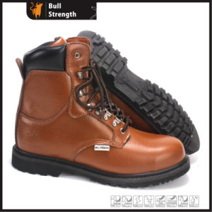 Industrial Geniune Leather Safety Boots with Rubber Sole (SN5393) pictures & photos