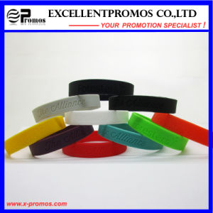 Personalized Promotional Silicone Rubber Wristband (EP-W58407) pictures & photos