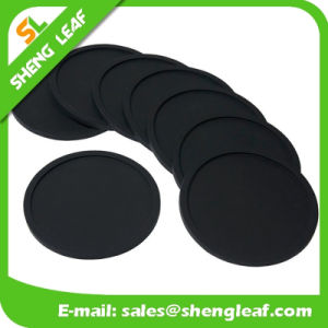 Householder Soft PVC Silicone Coasters in Round Shape (SLF-RC028) pictures & photos