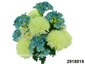 Artificial/Plastic/Silk Flower Chrysanthemum/Hydrangea Mixed Bush (2918019) pictures & photos