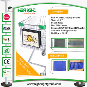 Shopping Cart Plastic Advertising Board pictures & photos
