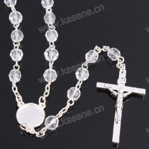 Wholesale 6mm Silver Religious Crystal Chain Rosary pictures & photos