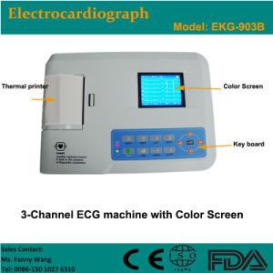 CE Approved Digital 3-Channel Color Electrocardiograph ECG (EKG-903B) -Fanny pictures & photos