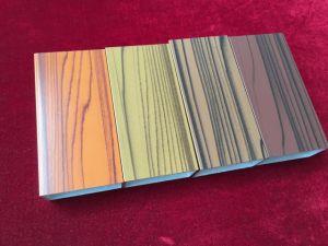 High Quality 6063 3D Wood Grain Aluminium Profile pictures & photos