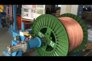 PU Nylon Jacket, Low Smoking Non-Halogen Photovoltaic Wire Extruder Line pictures & photos