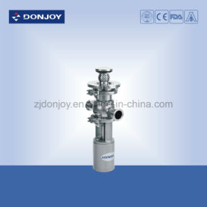 2 Inch Ss304 Steel Clamped Pneumatic Globe Valve with Cleaner pictures & photos