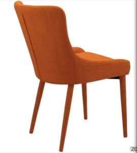 Orange Color Iron Frame Dining Chair with Fabric Cushion (DC030) pictures & photos