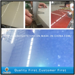 Engineered Red/ Bule/Beige/White Colors Artificial Sparkles Quartz Stones Slabs pictures & photos