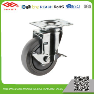 125mm Rotating Rubber Wheel Caster (P120-34FK100X32) pictures & photos