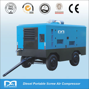 Movable High Pressure Tow Stage Diesel Engine Drive Portable Screw Air Compressor for Drill Rig pictures & photos