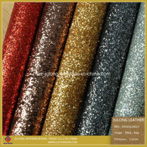 Good Quality Glitter Leather & Glitter Lace Leather & Upholstery Leather (SP033) pictures & photos