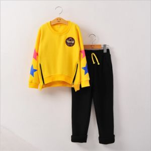 Ks11310 High Quality Children Apparel for Wholesale Fashion Spring Autumn 2 PCS Suits Microfleece Casual Kids Clothes Zipper T-Shirt + Pants pictures & photos