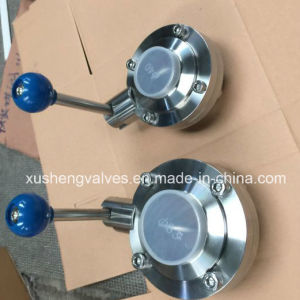 AISI316 Dn40 Hygienic Weld Thread Butterfly Valve pictures & photos