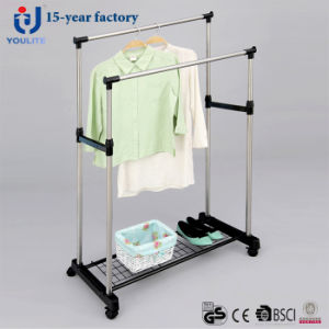 Stainless Steel Double Pole Clothes Hanger with Mesh pictures & photos