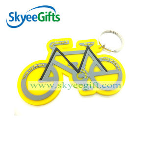 Low Price Gifts Bicycle Shape Custom Design Soft PVC Keychain pictures & photos