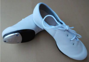 Men′s/Child′s/Women′s White Soft Cow Leather Tap Shoes pictures & photos