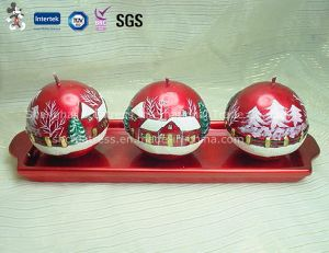 Three Spherical Candle for Christmas pictures & photos
