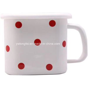 Personalized Making DOT Decora Square Enamel Mug Cup pictures & photos