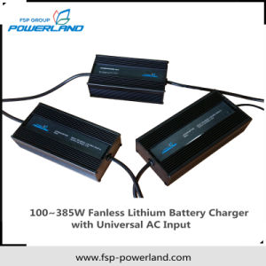 100~385W Fanless Lithium Battery Charger with Universal AC Input pictures & photos