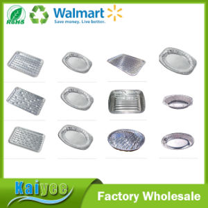 Wholesale Aluminium Foil Oval Platter BBQ Grill Tray pictures & photos