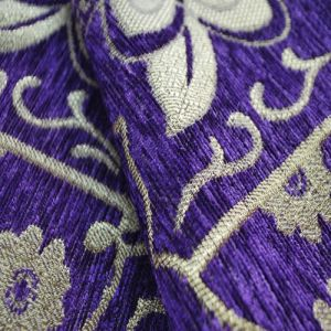 Purple Chenille Color Chenille Sofa Fabric for South American pictures & photos