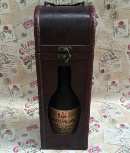 Custom Wooden Wine Box Single Wine Bottle Box pictures & photos