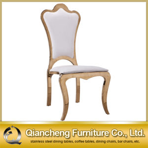 Luxury Design Rose Golden Stainless Steel Dining Chair pictures & photos