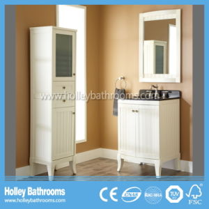 Clean Cut Classic Solid Wood Arc Sanitary Ware with Side Cabinet (BV209W)