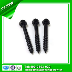 1/4*45 Black Color Hex Cap Self Tapping Wood Screw pictures & photos