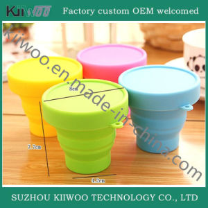 Portable Cheap Wholesale Silicone Foldable Travel Cup pictures & photos