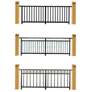 Euro Style Free Standing Metal Palisade Fence pictures & photos