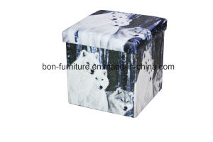 PVC Leather Functional Foldable Storage Stool pictures & photos